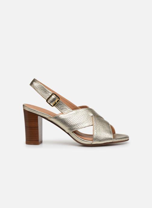 Sandales et nu-pieds Georgia Rose Courti Or et bronze vue derrière