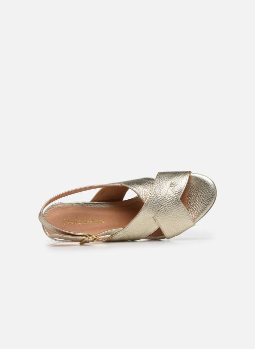 Sandales et nu-pieds Georgia Rose Courti Or et bronze vue gauche