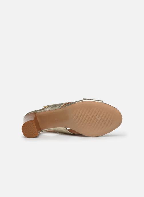 Sandales et nu-pieds Georgia Rose Courti Or et bronze vue haut