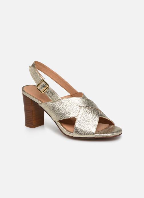 Sandales et nu-pieds Georgia Rose Courti Or et bronze vue détail/paire