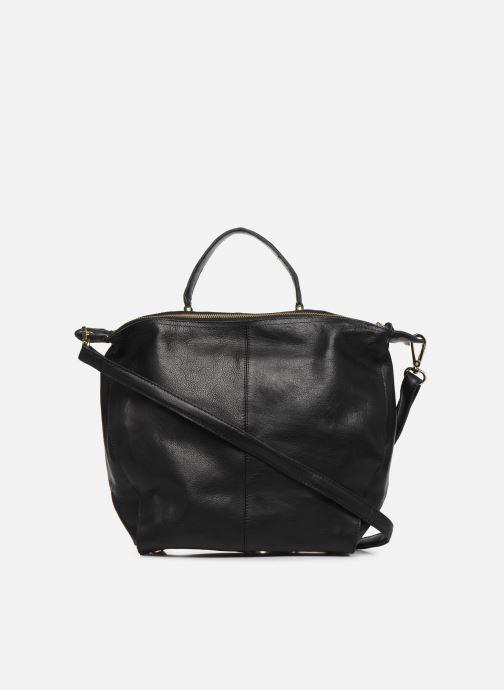 Handtassen Pieces NOMA LEATHER DAILY Zwart voorkant