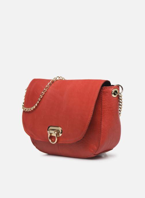 Handtaschen Pieces NOMI LEATHER CROSS BODY rot schuhe getragen