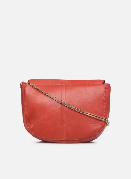 Handtaschen Pieces NOMI LEATHER CROSS BODY rot ansicht von vorne