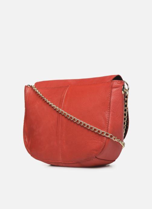 Handtaschen Pieces NOMI LEATHER CROSS BODY rot ansicht von rechts