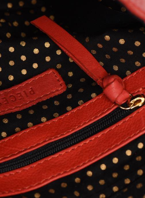 Handtaschen Pieces NOMI LEATHER CROSS BODY rot ansicht von hinten