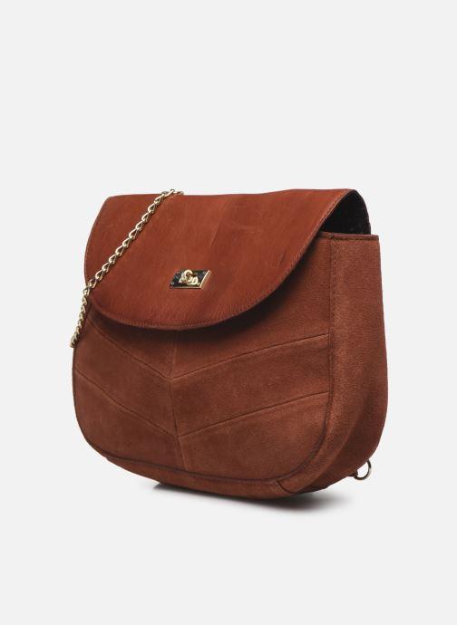 Handbags Pieces NUKA SUEDE CROSS BODY Red model view