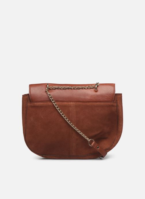 Handbags Pieces NUKA SUEDE CROSS BODY Red front view
