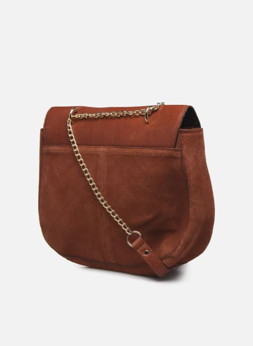 Handbags Pieces NUKA SUEDE CROSS BODY Red view from the right