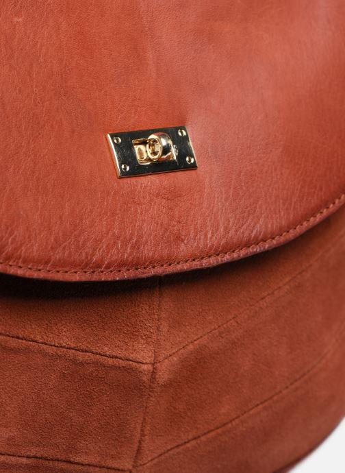 Handtaschen Pieces NUKA SUEDE CROSS BODY rot ansicht von links
