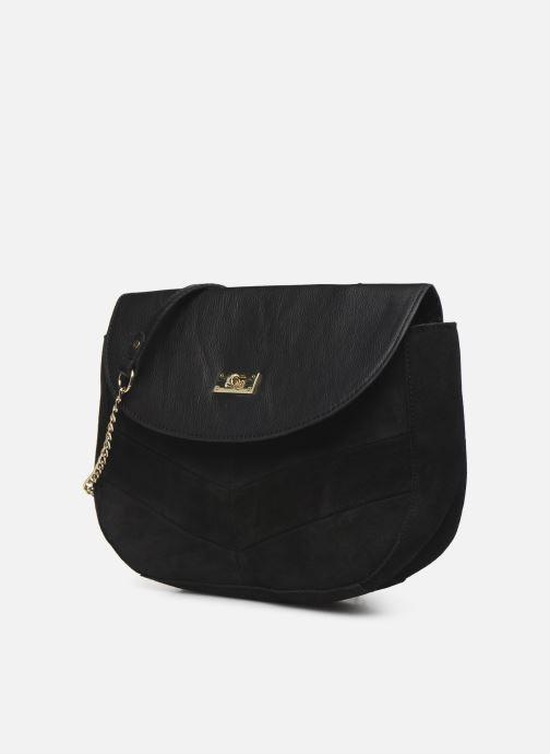Handbags Pieces NUKA SUEDE CROSS BODY Black model view