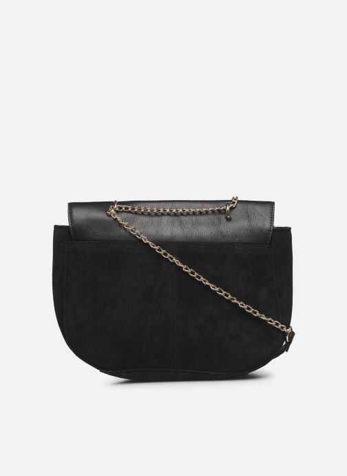 Handbags Pieces NUKA SUEDE CROSS BODY Black front view