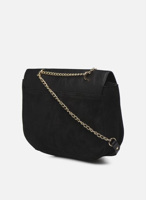 Handbags Pieces NUKA SUEDE CROSS BODY Black view from the right