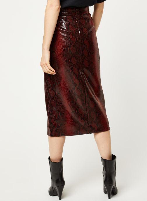 Vêtements Essentiel Antwerp Jupe VOLD Rouge vue portées chaussures