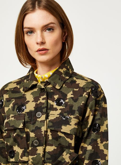 Vêtements Essentiel Antwerp Veste VENGABOYS Vert vue face