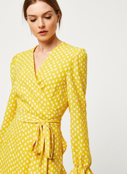 Vêtements Essentiel Antwerp Robe VODOLFO Jaune vue face