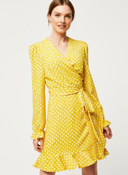 Vêtements Essentiel Antwerp Robe VODOLFO Jaune vue droite