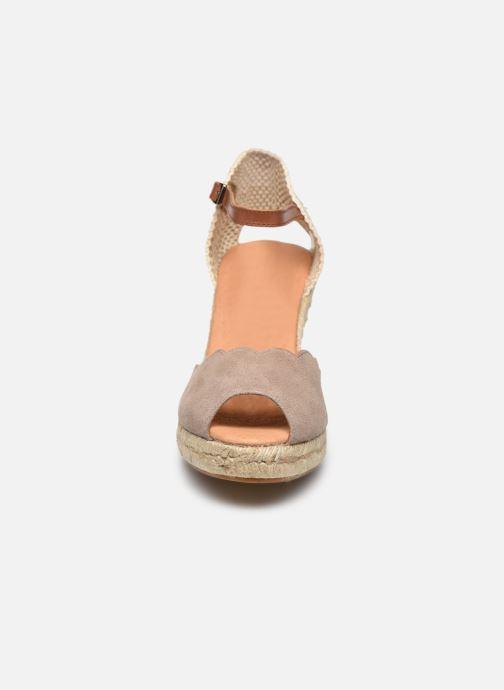 Espadrilles Georgia Rose Loupita Beige vue portées chaussures