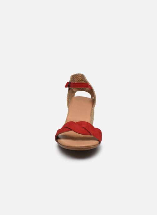 Espadrilles Georgia Rose Loupitone Rouge vue portées chaussures