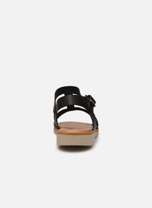 Sandales et nu-pieds Georgia Rose Soft Diandra Noir vue droite