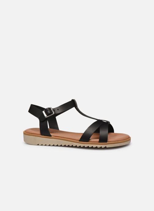 Sandales et nu-pieds Georgia Rose Soft Diandra Noir vue derrière