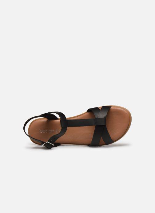Sandales et nu-pieds Georgia Rose Soft Diandra Noir vue gauche