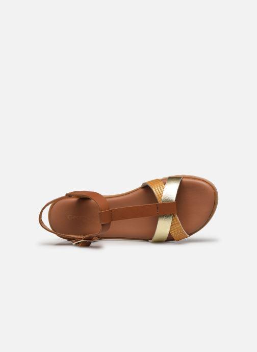 Sandales et nu-pieds Georgia Rose Soft Diandra Marron vue gauche