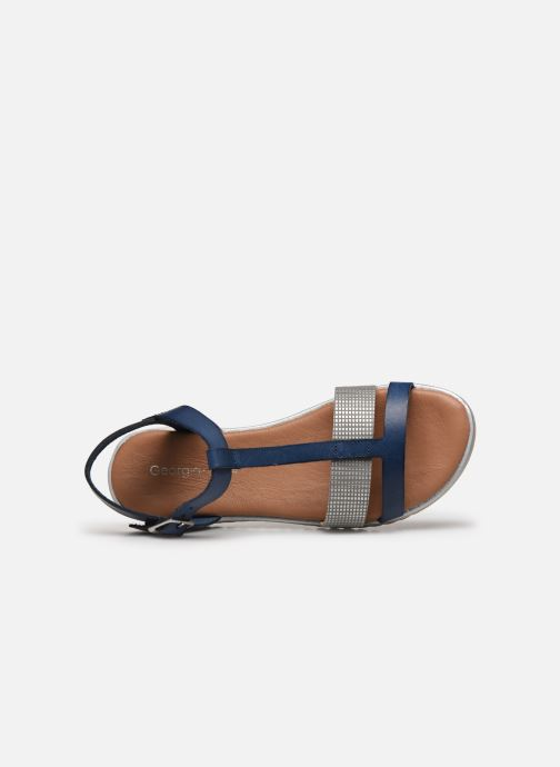 Sandales et nu-pieds Georgia Rose Soft Dolino Bleu vue gauche
