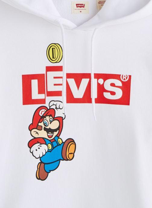 Vêtements Levi's Graphic Po Hoodie- B Blanc vue portées chaussures