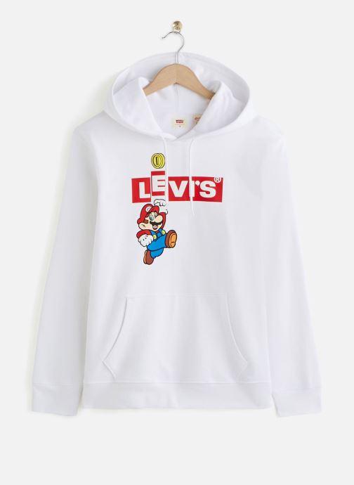 Vêtements Levi's Graphic Po Hoodie- B Blanc vue détail/paire