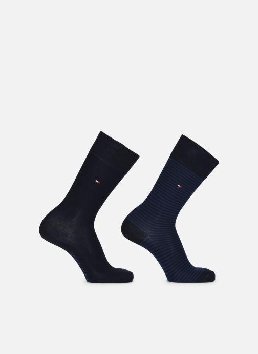 Socken & Strumpfhosen Tommy Hilfiger TH MEN SMALL STRIPE SOCK 2P blau detaillierte ansicht/modell