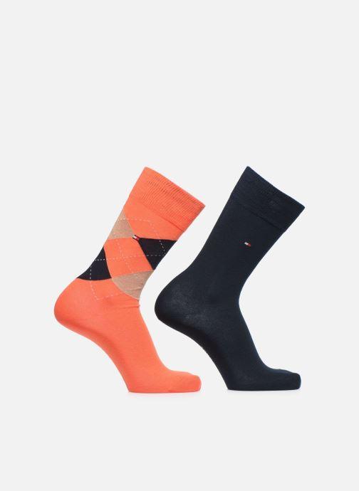 Socken & Strumpfhosen Tommy Hilfiger TH MEN SOCK CHECK 2P orange detaillierte ansicht/modell
