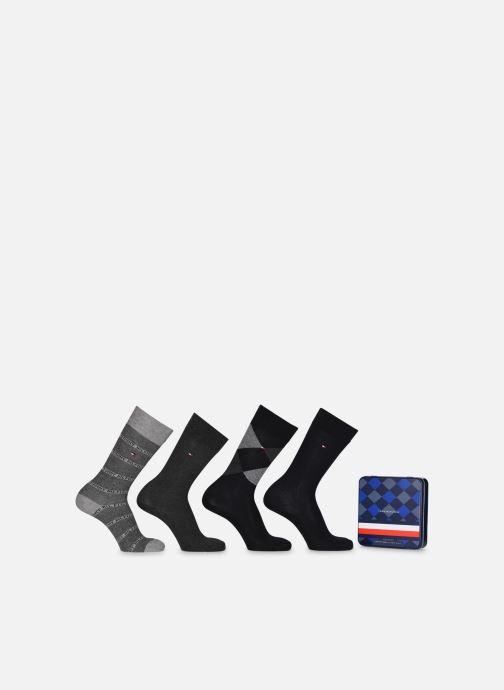 Chaussettes et collants Tommy Hilfiger TH MEN SOCK 4P GIFTBOX ARGYLE Noir vue détail/paire