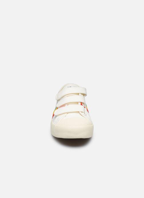 Baskets Gola Coaster Rainbow Velcro Blanc vue portées chaussures