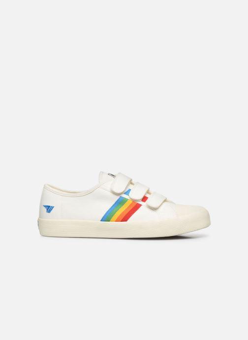 Baskets Gola Coaster Rainbow Velcro Blanc vue derrière