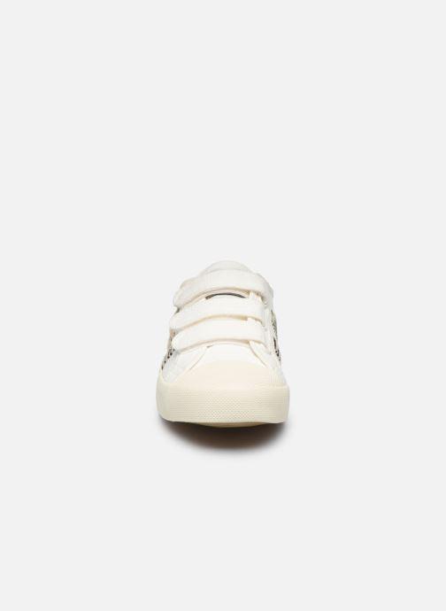 Baskets Gola Coaster Safari Velcro Blanc vue portées chaussures