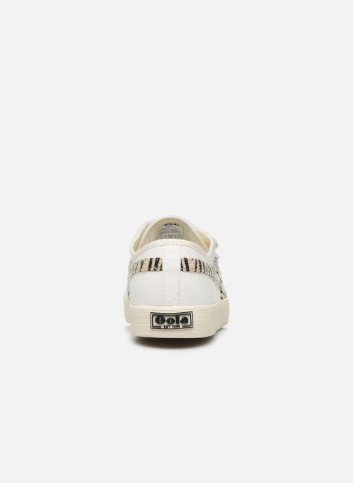 Baskets Gola Coaster Safari Velcro Blanc vue droite