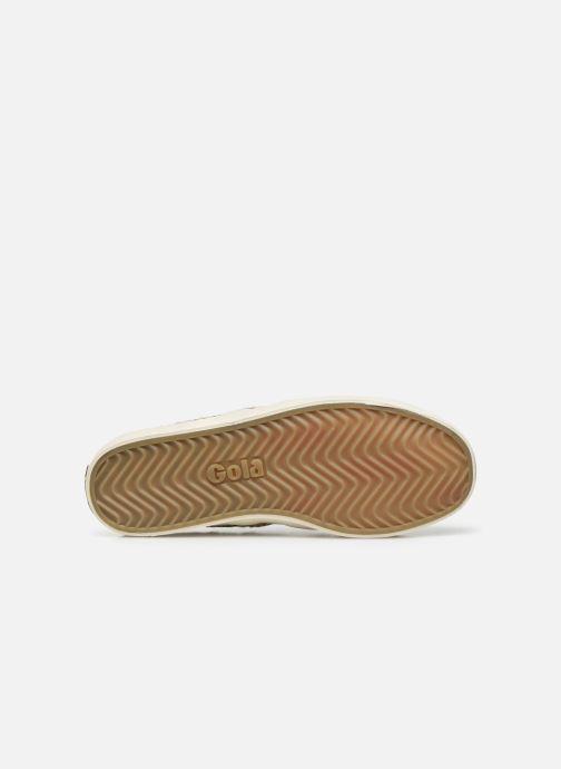 Baskets Gola Coaster Safari Velcro Blanc vue haut