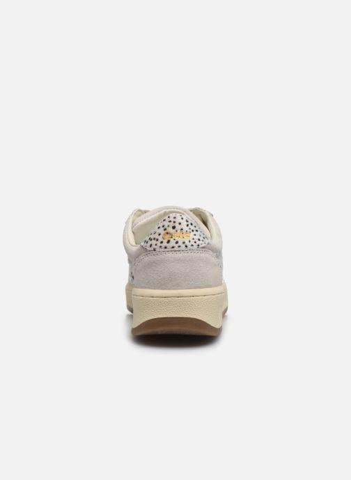 Baskets Gola Grandslam Suede Safari Blanc vue droite