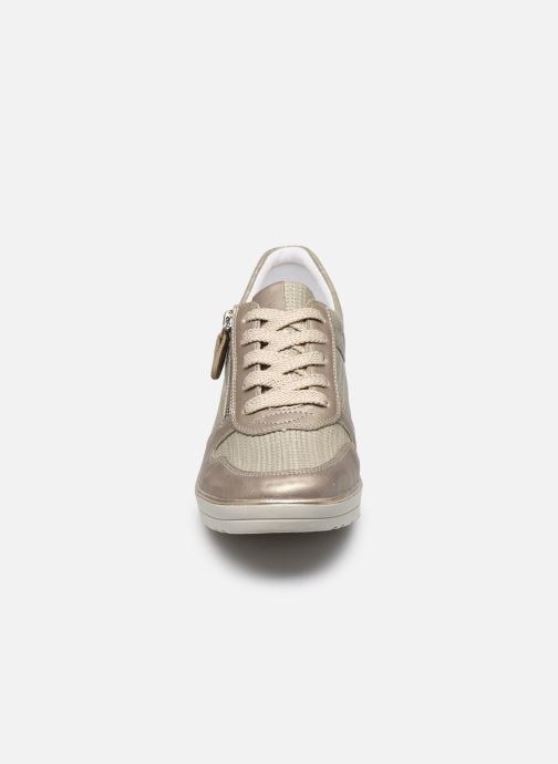 Baskets Remonte Sanda Or et bronze vue portées chaussures