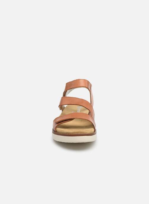 Sandales et nu-pieds Remonte Ovidiu Marron vue portées chaussures