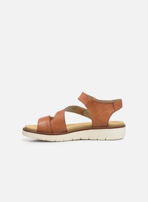 Sandales et nu-pieds Remonte Ovidiu Marron vue face