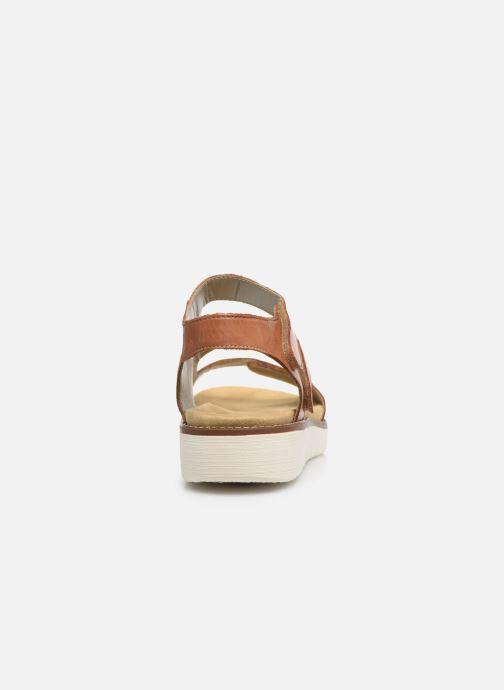 Sandales et nu-pieds Remonte Ovidiu Marron vue droite