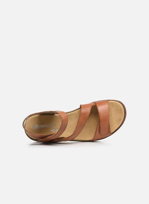 Sandales et nu-pieds Remonte Ovidiu Marron vue gauche