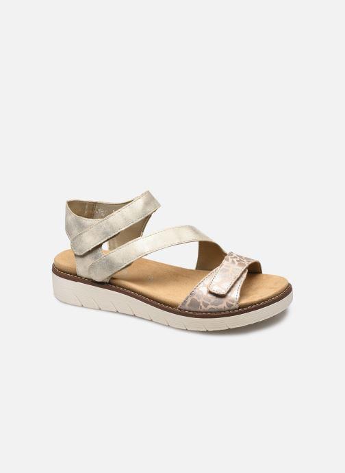 Sandales et nu-pieds Remonte Ovidiu Or et bronze vue détail/paire