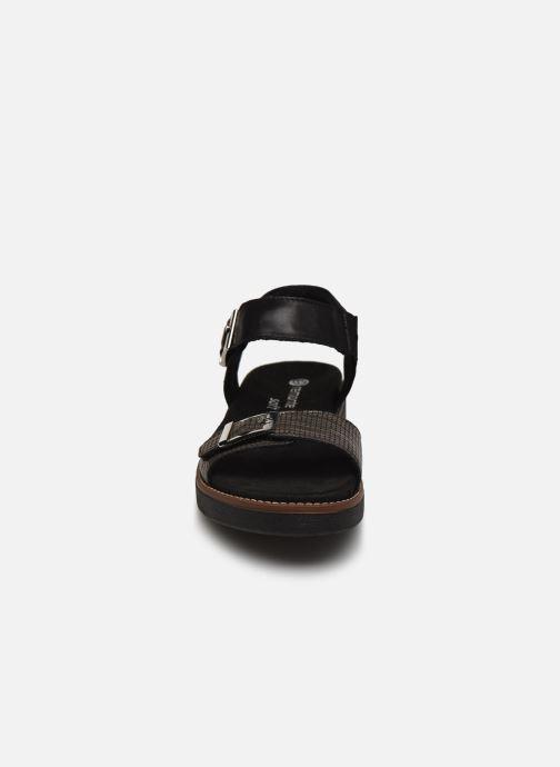 Sandales et nu-pieds Remonte Fane Noir vue portées chaussures