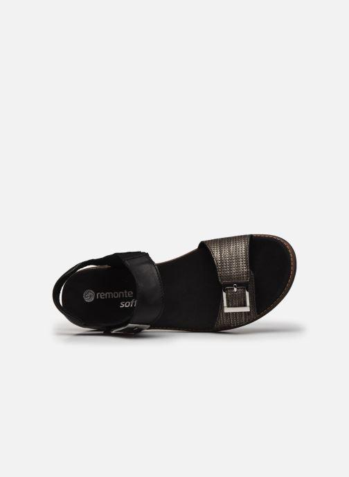 Sandales et nu-pieds Remonte Fane Noir vue gauche