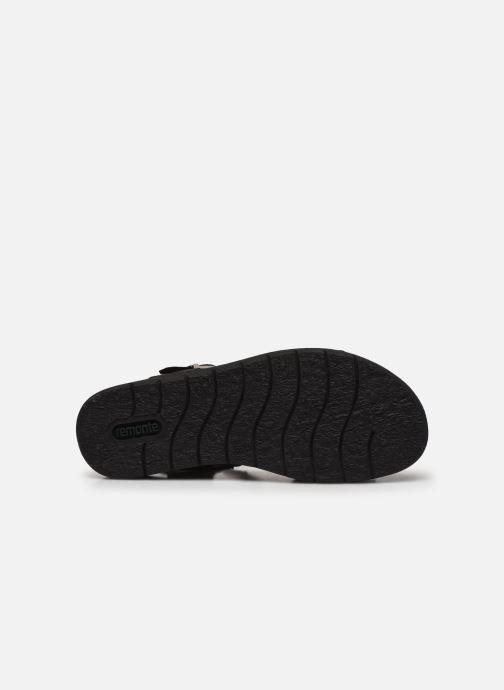 Sandales et nu-pieds Remonte Fane Noir vue haut
