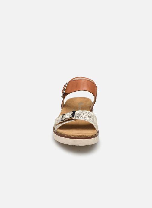 Sandales et nu-pieds Remonte Fane Marron vue portées chaussures