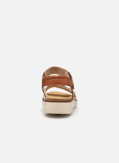 Sandales et nu-pieds Remonte Fane Marron vue droite