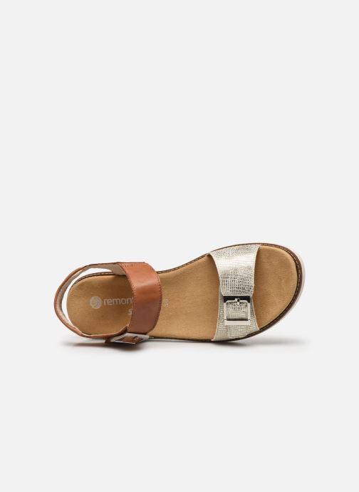 Sandales et nu-pieds Remonte Fane Marron vue gauche